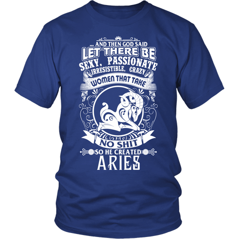 Zodiac Thing - Zodiac Tee: T-shirt - Aries T-shirt God Created Aries