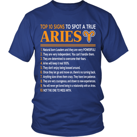 Zodiac Thing - Zodiac Tee: T-shirt - A True Aries T-shirt