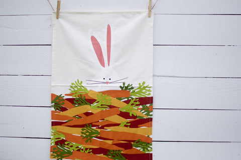 Easter Bunny and Carrots Towel