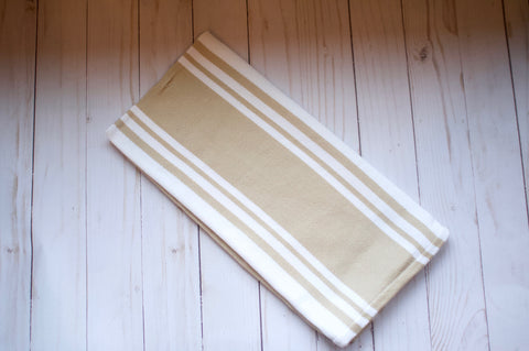 Natural and White Dish Towel