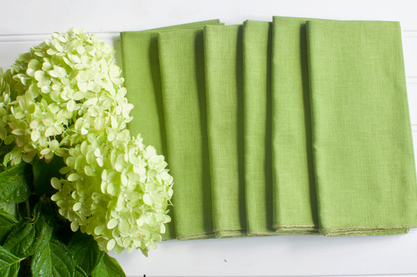Kelly Green Vintage Napkin
