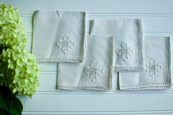 Embroidered Vintage Napkin
