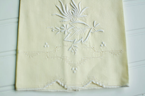 Butter Yellow Vintage Hand Towel