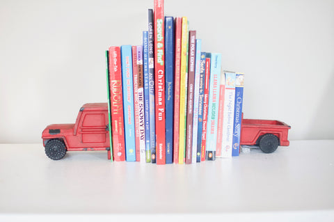 Red Truck Bookends