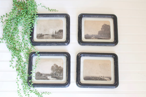 Antiqued Framed Landscape Set