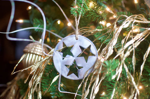 Handmade Tennessee Tri-Star  Ornament