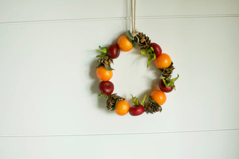 Rosehip And Kumquat Wreath Ornament Ornament