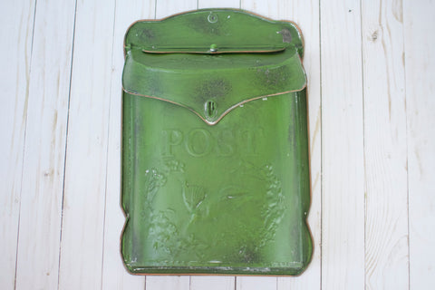 Embossed Tin Letter Box