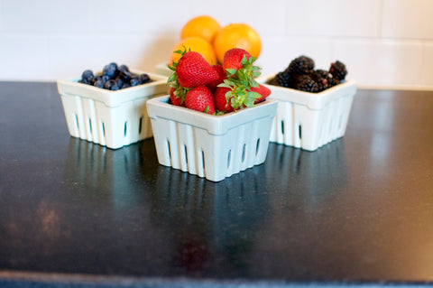 Small Stoneware Berry Basket