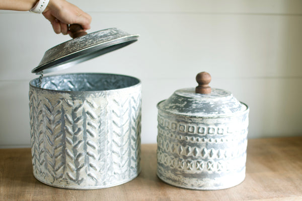 Pressed Tin Canisters