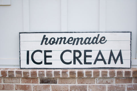 Homemade Ice Cream Sign