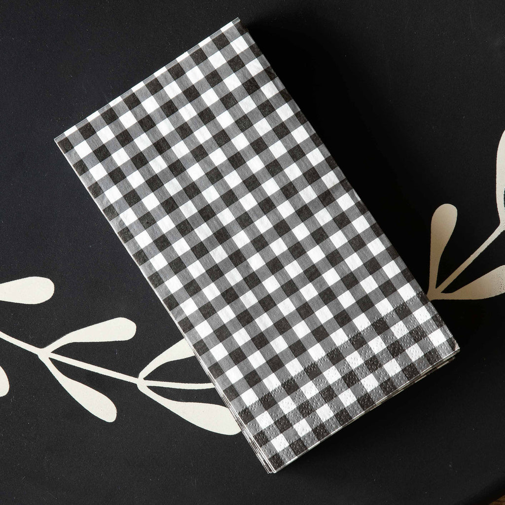 Gingham Guest Towels