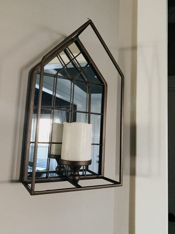 Mirrored House Sconce
