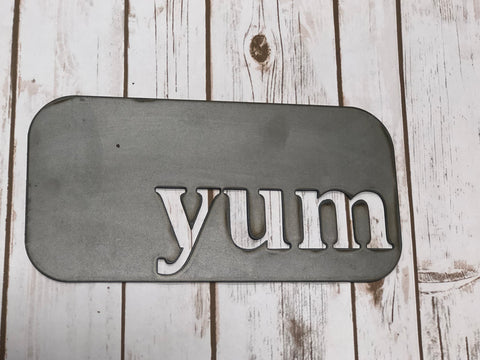 Yum Metal Sign