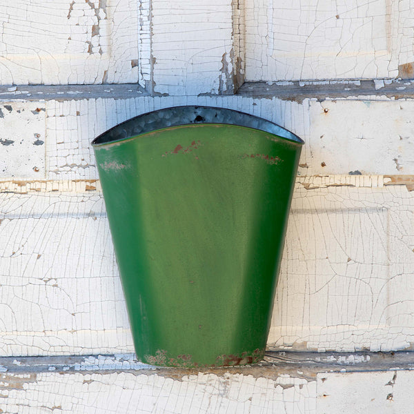 Green Metal Wall Bucket