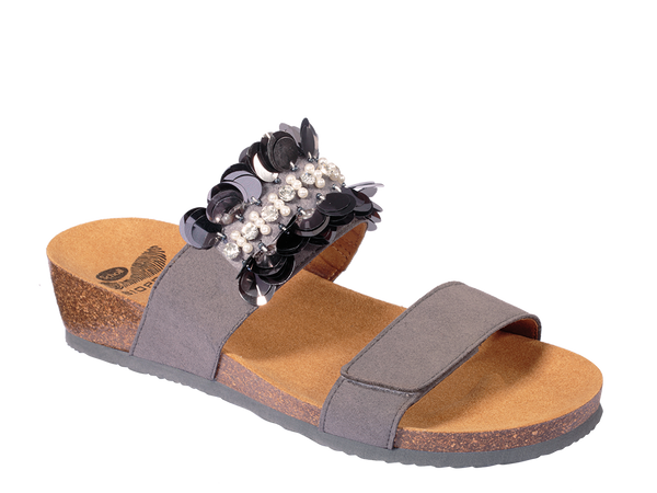 CHANTAL STRAP DK GREY LEATHER