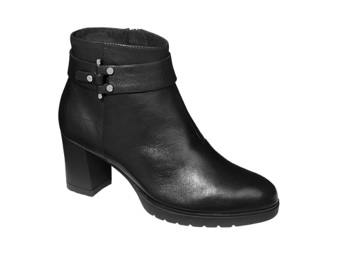 DANABEL BLACK LEATHER
