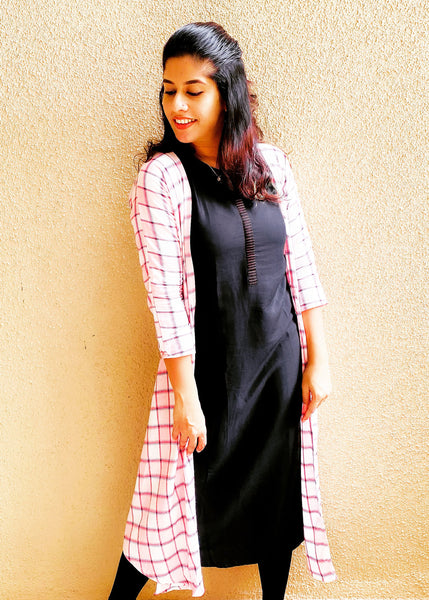Chequered Jacket Dress
