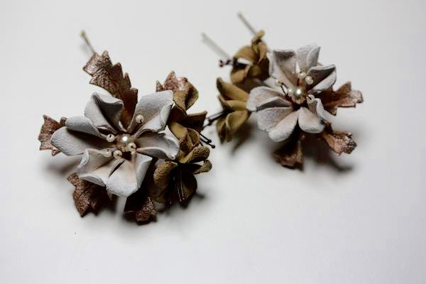 Burnished Pearl Hair Pins