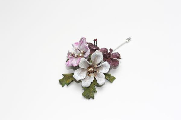 Blossom Pink and White Lapel Pin
