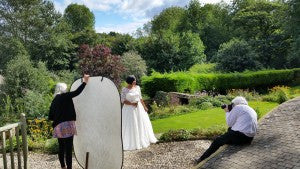 Behind-the-Scenes UK Plus Size Bridal Shoot