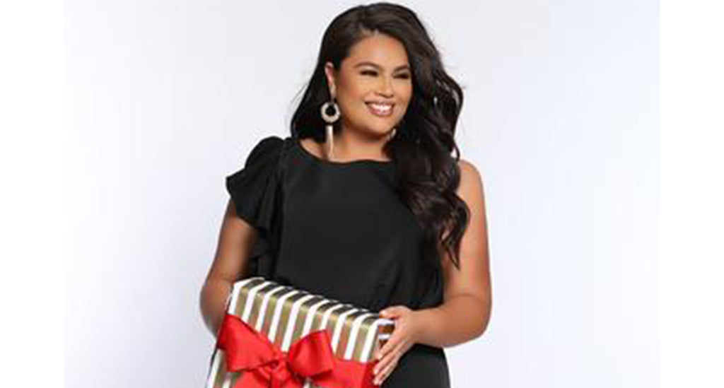 CE2014 plus size jumpsuit in black red or ivory with flounce detail