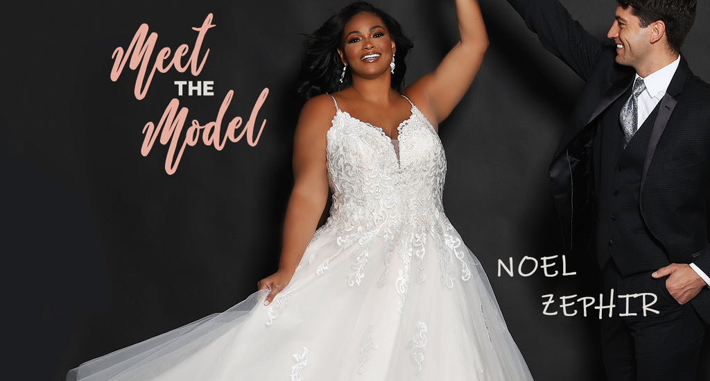 Meet the Model Noel Zephir with IPM Modle Management for Sydney's Closet and Michelle Bridal Plus Size Wedding Gowns