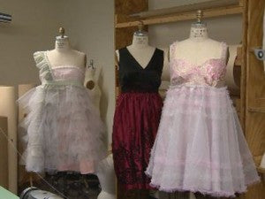 Fashion Students Create Plus Size Prom Dresses From Recycled Material