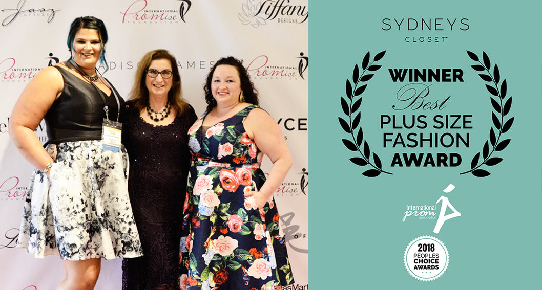 "Sydney's Closet Wins ""Best Plus Size Fashion Award"" from International Prom Association"