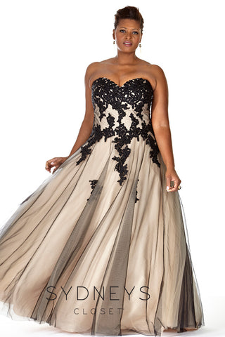 Brown Plus Size Prom Dresses
