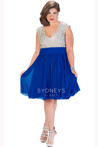 Sample Plus Size Party Dress Sale
