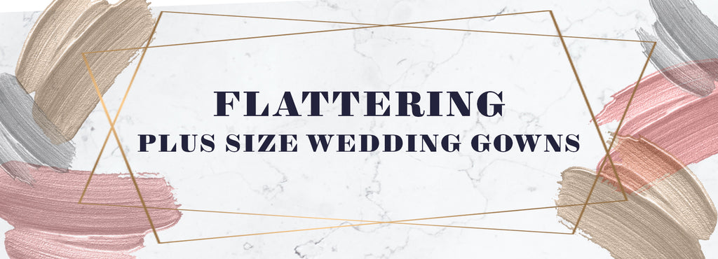 Sydney's Closet guide to figure flattering plus size wedding gowns