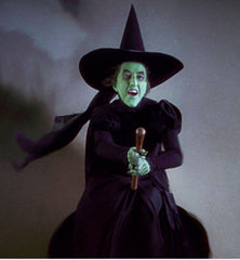 wicked witch on broomstick