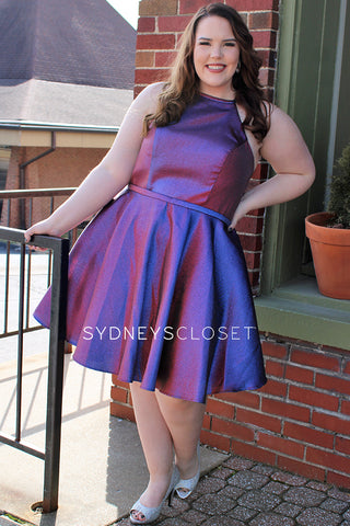 SC8103 plus size homecoming party dress
