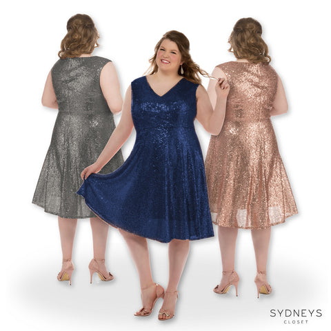 plus size bridesmaid dress sequins