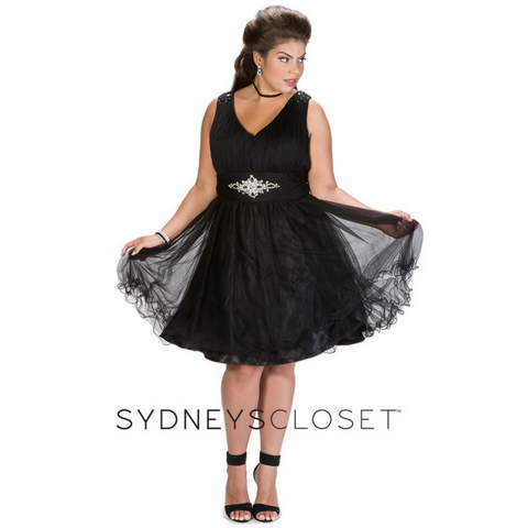short prom dress plus size