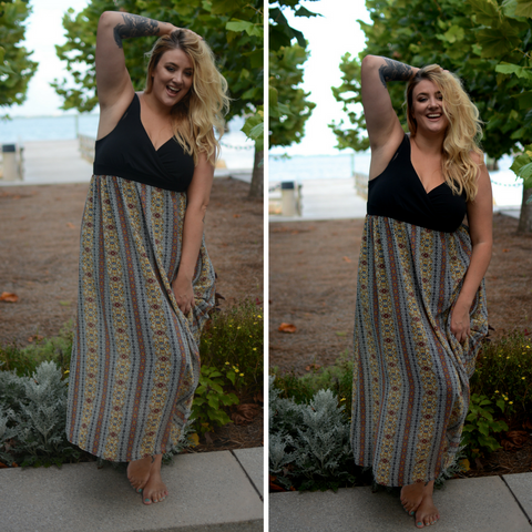 plus size maxi dress for fall