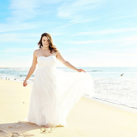 destination wedding plus size bride
