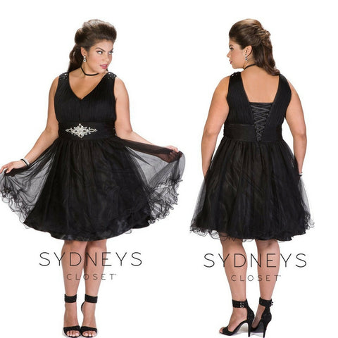 plus size bridesmaid dress in black