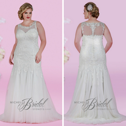 sexy fitted plus size wedding gown