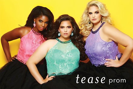 Tease Prom TE1717 plus size two piece