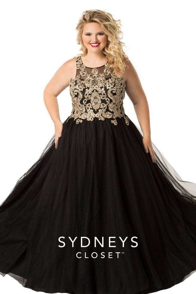 Plus Size Majestic Queen Prom Dress, [product_color] - Sydney's Closet