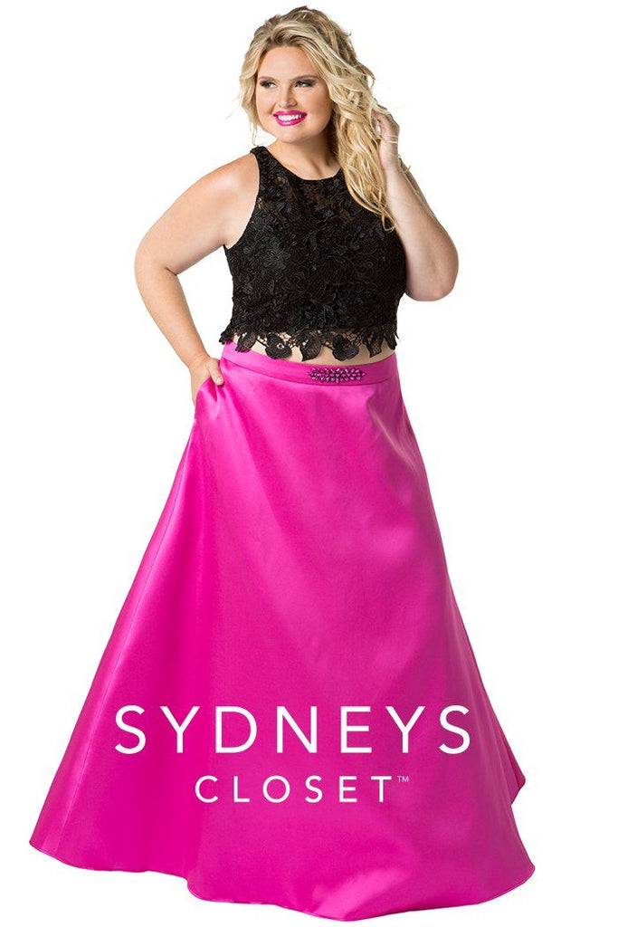 Plus Size Sample Dress SC7228, [product_color] - Sydney's Closet