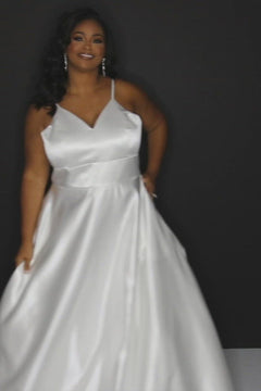 Judy Bridal Gown SC5245 by Sydney's Closet A-Line with pockets and zipper back available in Ivory