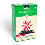 "12"" Holiday Tree Topper Red & White Star"