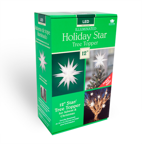 "12"" Holiday Tree Topper Star"