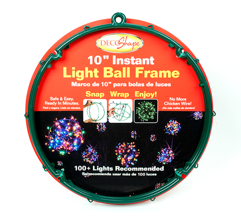 "10"" Decoshape Holiday Light Ball"