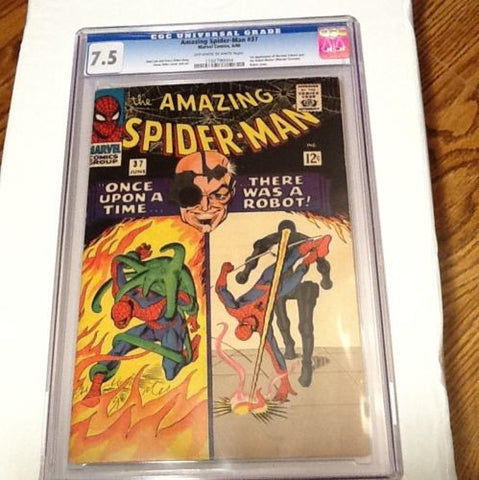 The  Amazing. Spider-man. #37. CGC. OW-W  7.5 - ComicBookKeys