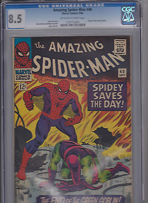 The Amazing Spider-man   #40    CGC   8.5    OW - ComicBookKeys