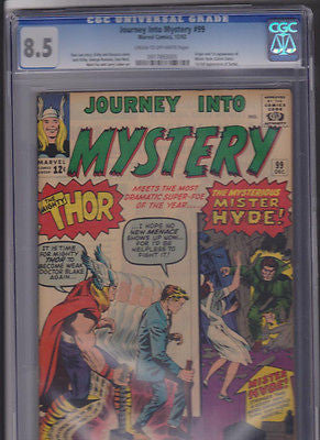 Journey Into Mystery   #99    CGC   8.5   C-OW:   1963 - ComicBookKeys